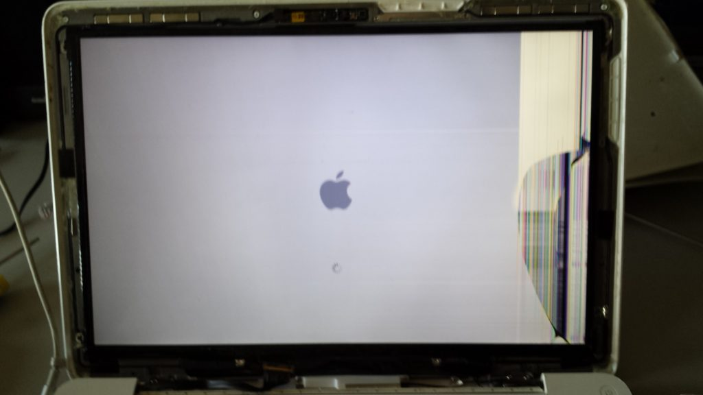 Ecran d' APPLE MacBook cassé