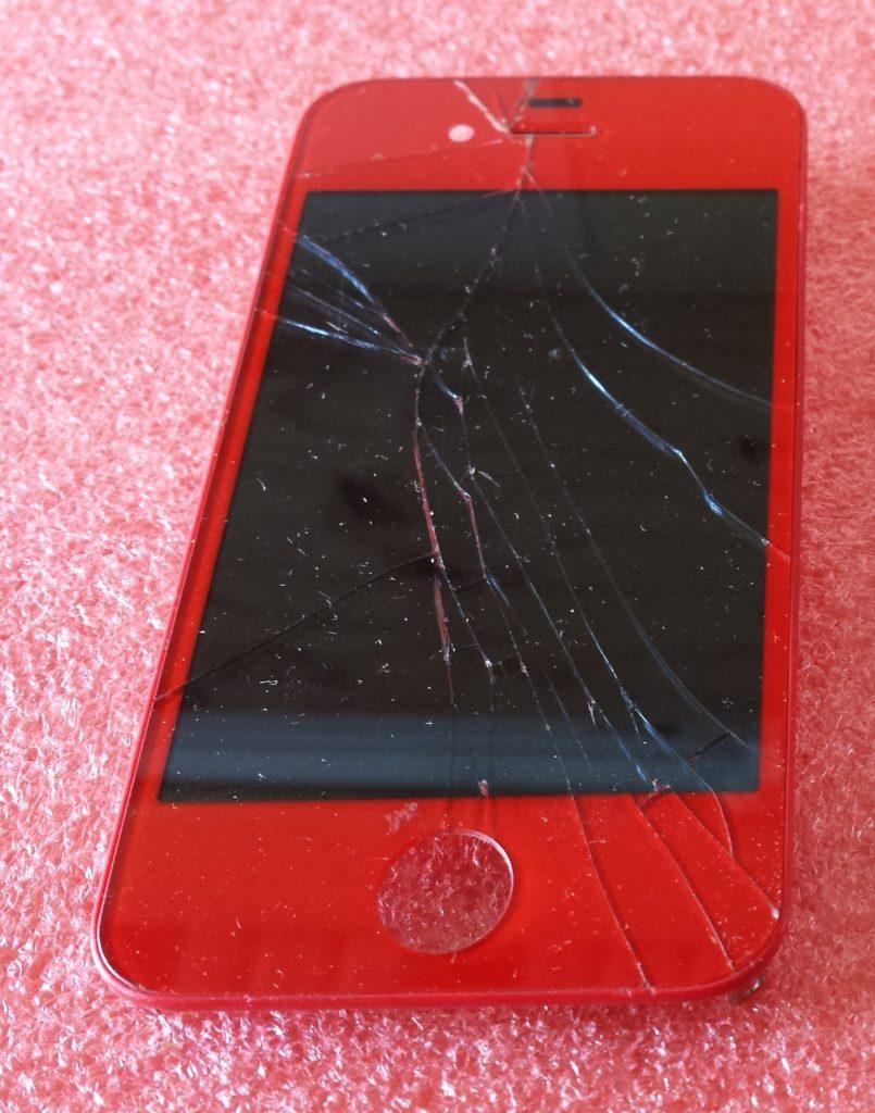 Ecran d' APPLE iPhone 4S - cassé