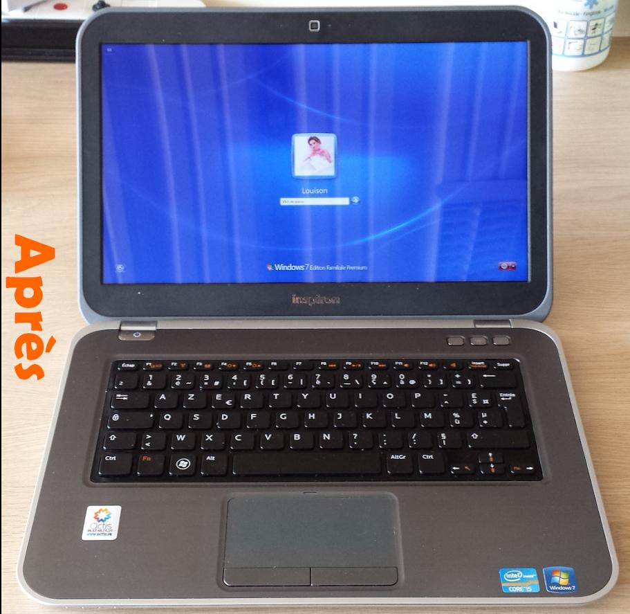 Ecran de PC portable réparé